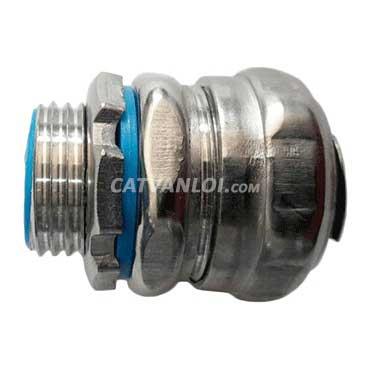 Đầu nối ống ruột gà với hộp điện /thiết bị kín nước (INOX)