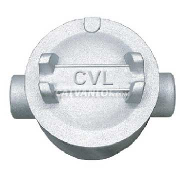 Hộp nối ống thép luồn dây điện ren 2 ngã thẳng dùng cho ống IMC/RSC