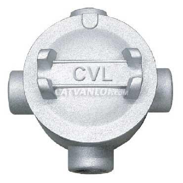 Hộp nối ống thép luồn dây điện ren 4 ngã dùng cho ống IMC/RSC