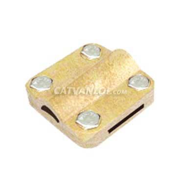 Kẹp cáp đồng và thanh đồng / thanh nhôm cho hệ thống chống sét (4 vít)