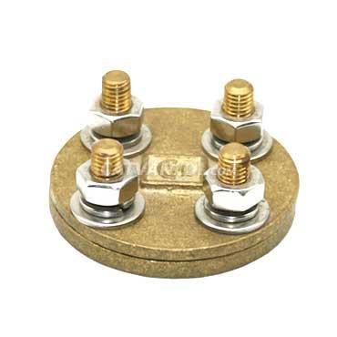 Kẹp nối kiểm tra thanh đồng/thanh nhôm dạng tròn (4 vít)