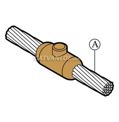 Mối nối hàn hóa nhiệt cáp với cáp CC1