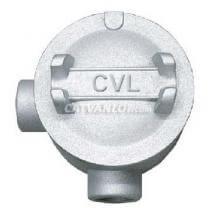Hộp nối ống thép luồn dây điện ren 2 ngã vuông dùng cho ống IMC/RSC