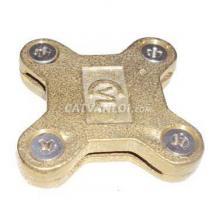 Kẹp thanh đồng / thanh nhôm 4 ngã cho hệ thống chống sét (4 vít)