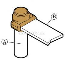 Mối nối hàn hóa nhiệt thanh đồng/ nhôm với cọc tiếp địa BR1