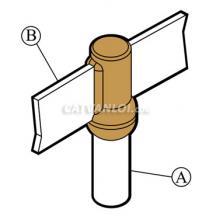 Mối nối hàn hóa nhiệt thanh đồng/ nhôm với cọc tiếp địa BR2