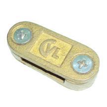 Kẹp thanh đồng /thanh nhôm 2 ngã cho hệ thống chống sét (2 vít)