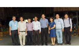 Phái đoàn giảng viên trường Cao Đẳng Kỹ Thuật Cao Thắng đến tham quan Nhà máy sản xuất Ống thép luồn dây điện & Phụ kiện - Công ty Thiết bị điện Cát Vạn Lợi