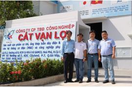 Chuyến tham quan & trao đổi kế hoạch thực tập cho sinh viên tại Nhà máy sản xuất Ống thép luồn dây điện Cát Vạn Lợi