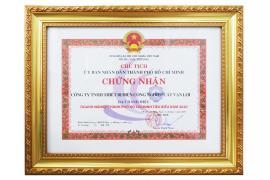 Công ty Cát Vạn Lợi đạt danh hiệu Doanh nghiệp tiêu biểu TP.HCM năm 2020