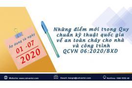 Điểm mới của QCVN 06:2021/BXD so với QCVN 06:2020/BXD